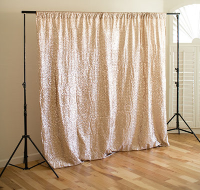 Champagne sequins for a pretty & stylish backdrop