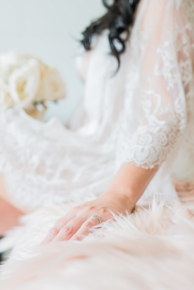 Claire Elise Photography lace dressing gown engagement ring wedding photography gold coast Natural light wedding photography bride bridal  getting ready bridal boudoir