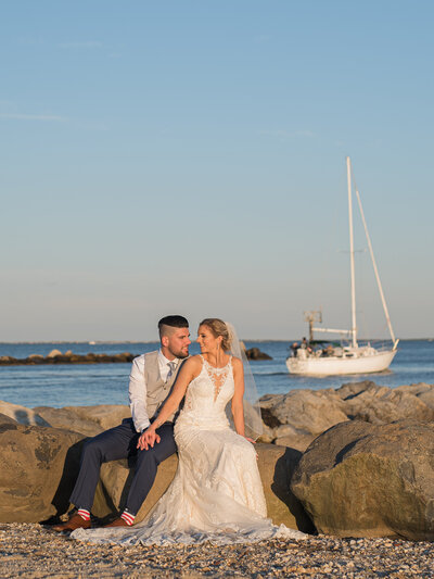 Wedding Day Couples Portrait - Lands End Venue
