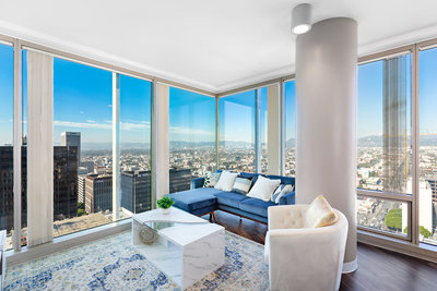 Los Angeles  Real Estate Photographer City skyline view