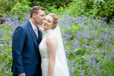 wedding couple bluebells