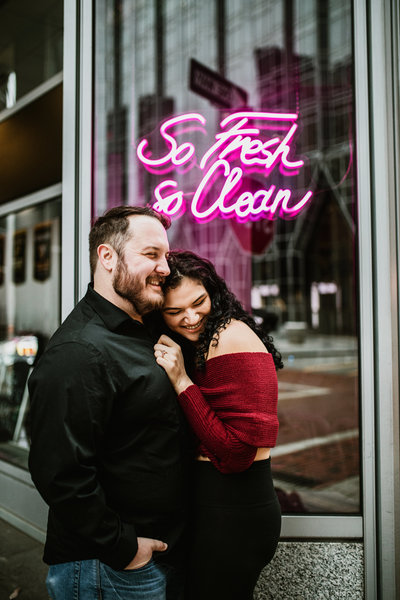 Downtown Pgh Engagement Photographer-4
