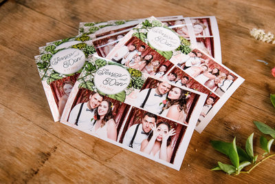 Custom wedding photo booth print design for an Astoria Oregon Wedding at Fort George Brewery
