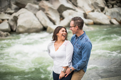Sacramento wedding photographers at Yuba River