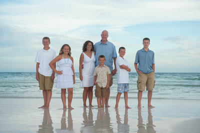 Big family beside the gulf in Fort Walton Beach