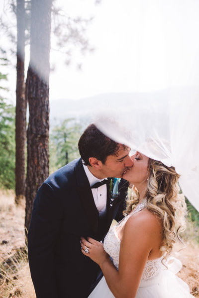 Smoky skies and lots of love at Powers Creek Retreat wedding in West Kelowna