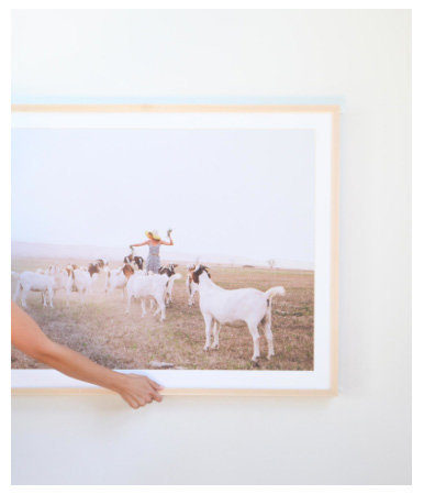 Chicago artist custom framing Elle Baker Photography