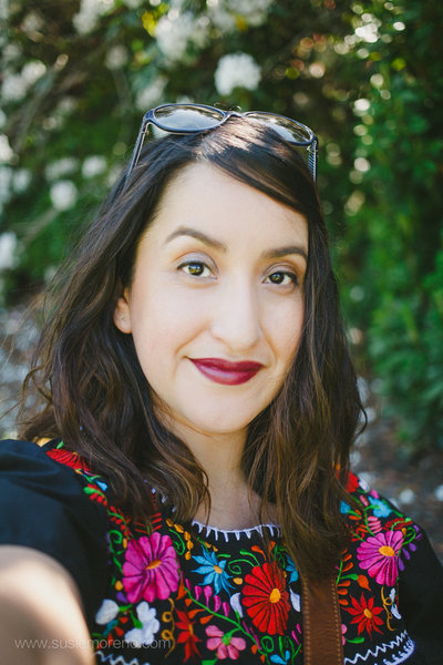 colorful portrait of wedding photographer Susie Moreno in Portland, Oregon