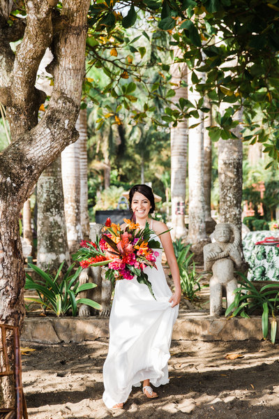 Costa Rice Elopement Intimate Wedding Planner Tropical Bridal Bouquet