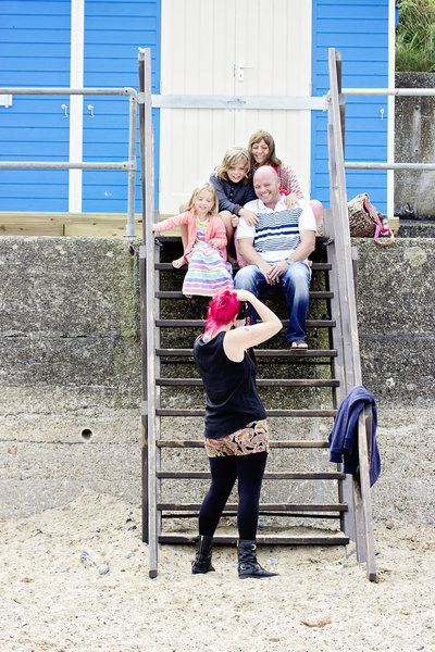 A family photoshoot at Cromer in Norfolk on the beach