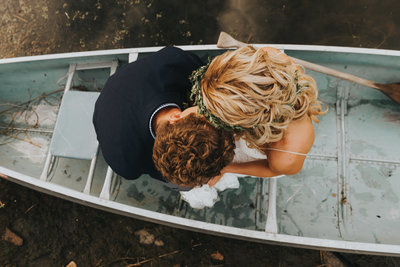 Canoe Wedding Photography