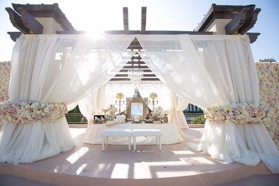 Wedding ceremony location Marbella Country Club wedding in Orange County, CA San Juan Capistrano wedding photographer