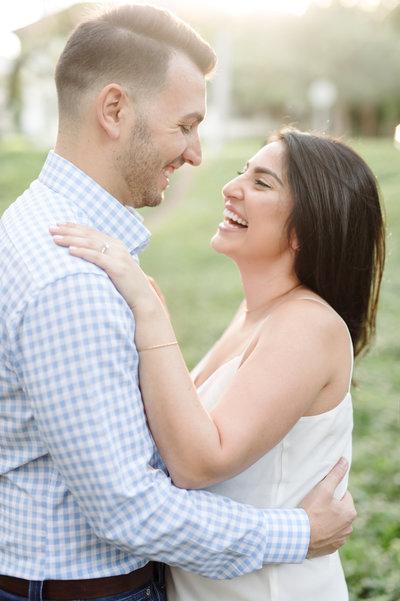 outdoor engagement session at White Rock Lake