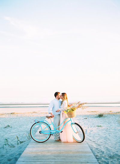 Engagement session on Folly Beach, South Carolina, Charleston Wedding Photographers