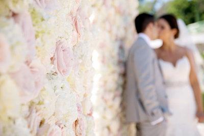 flower wall at Marbella Country Club wedding in Orange County, CA San Juan Capistrano wedding photographer