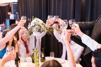 Making a toast at a beautiful  Italian wedding