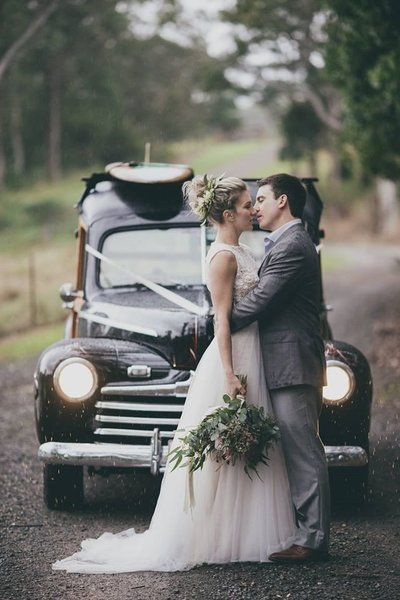 bride and groom styled by Main Event Weddings at Yandina Station by Alexei Malko Films