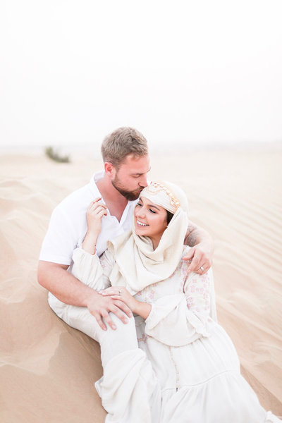 portrait of husband and wife Wedding photographers Andie and Tony in Dubai by Costola Photography