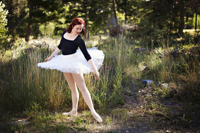 Ballerina outdoors