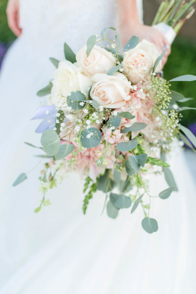Blush wedding Bouquet at Herrington on the Bay