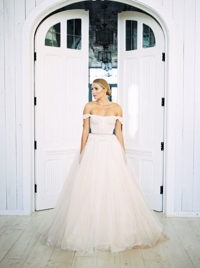 Texas Wedding Bride Portrait, Fine Art Film