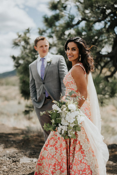 Sun Mountain Lodge Wedding Indian Saree Jewish