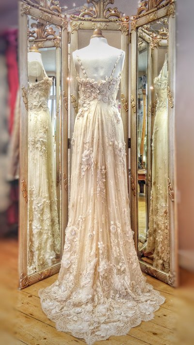 Lotis_champagne_romantic_floral_lace_wedding_dress_JoanneFlemingDesign