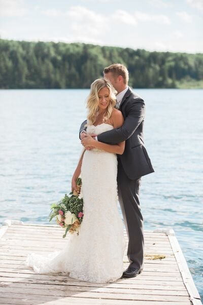 Lake wedding by Smitten & Co.