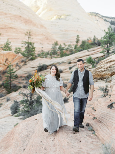 Anniversary session in Zion National park photographed by Tyler Rye
