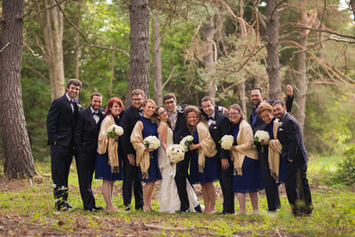 Charming Rothesay wedding party photo