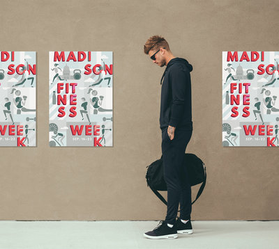 Event branding for Madison Fitness Week by Christie Evenson Design Co.