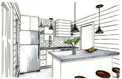 Kitchen Hand rendering Hemphill Texas