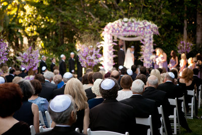 ceremony location at the Four Seasons Beverly Hills in Los Angeles  photo by Gilmore Studios