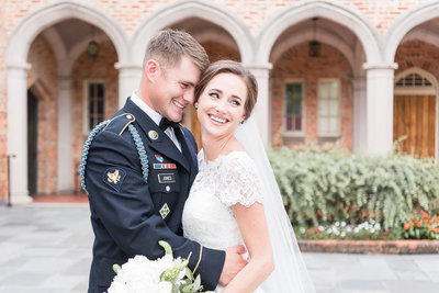 Military Wedding - Gorgeous Bride and Groom