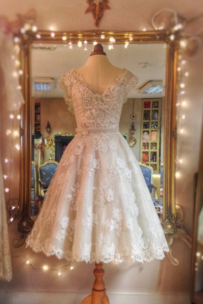 Cecile_ivory_lace_silk_tealength_wedding_dress_JoanneFlemingDesign (2)