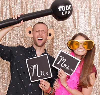 Couples love out photo booth!