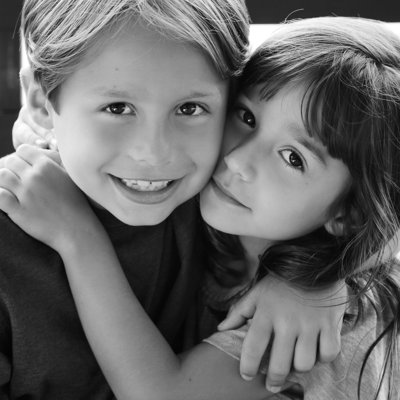 classic timeless black & white siblings portrait hudson valley new york