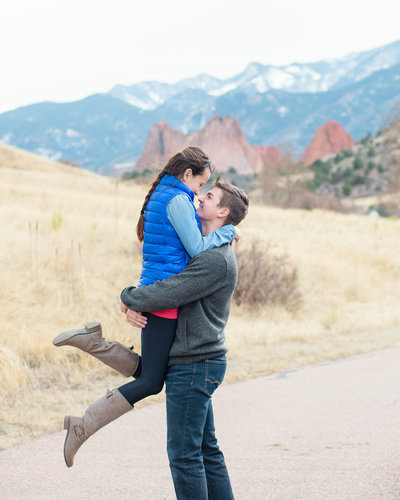 fall colorado springs engagement photography