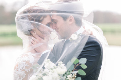 Beautiful veil wedding photo by Staci Addison Photography