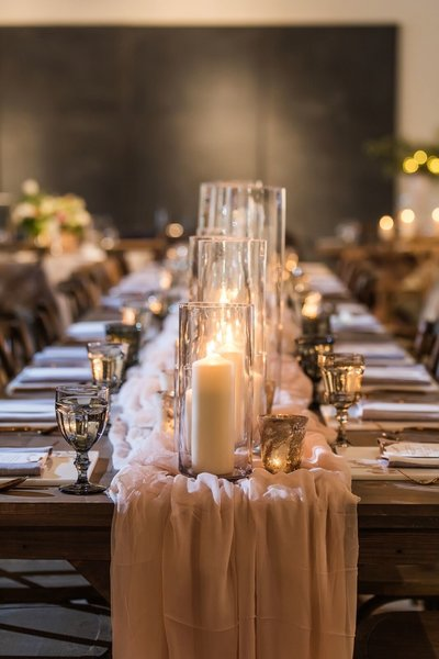 Wedding candles table