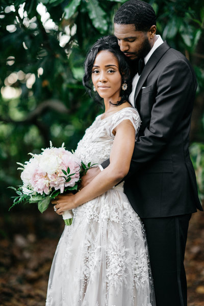 carolina inn garden wedding black couple