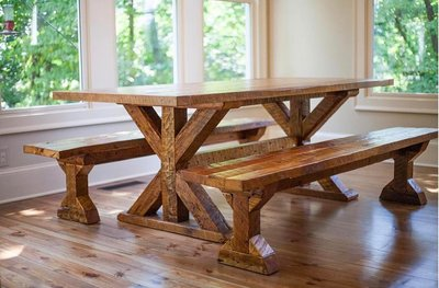 reclaimed-wood-trestle-farm-table-sons-of-sawdust