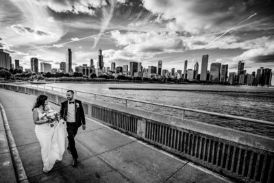 Chicago wedding skyline