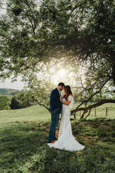 Intimate Sunset Farm Wedding in Abingdon Virginia
