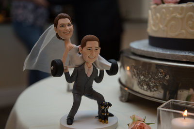 Wedding couple cake toppers at The Riverhouse