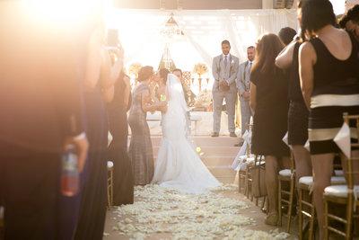 Ceremony location at Marbella Country Club wedding in Orange County, CA San Juan Capistrano wedding photographer bride