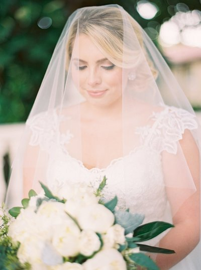 bride covered by veil