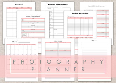 PHOTOGRAPHY PLANNER THUMBNAIL ETSY