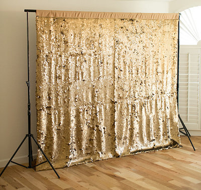 dazzling gold sequin backdrop