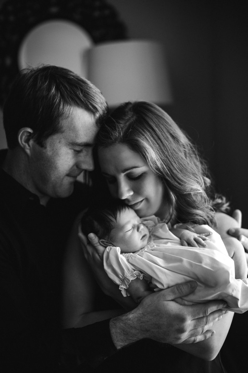 Family of three by Knoxville Wedding Photographer, Amanda May Photos.